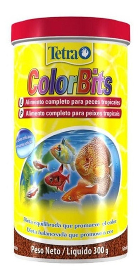 Ração Tetra Color Bits Tropical Granules 300g Pote