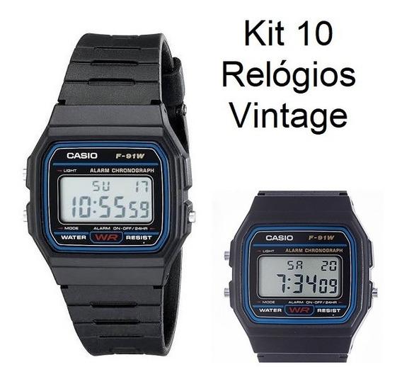 Kit 10 Relógios Vintage Retrô Barato Luxo Atacado Revenda