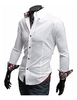 Camisas Slim Fit Entalladas De Vestir Casual Quality Import