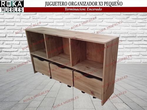 Imagen 1 de 4 de Juguetero Organizador Biblioteca Estante Cubox3 Peq Encerado