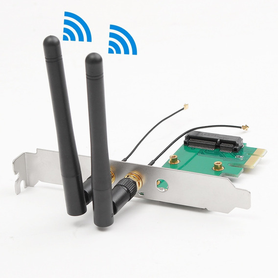 Placa De Rede Wifi Sem Fio Mini Pci-e Para Pci-e Desktop Ada