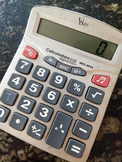 Calculadora 08 Digital Wec- 802a