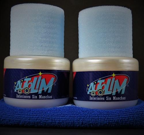 Kit Autolim X 2 Limpia Tapizados + 2 Paños De Microfibra