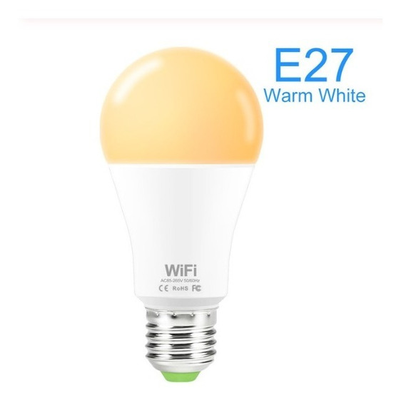 Lâmpada Led Wifi Bulbo 15w Branco Alexa E Google Home