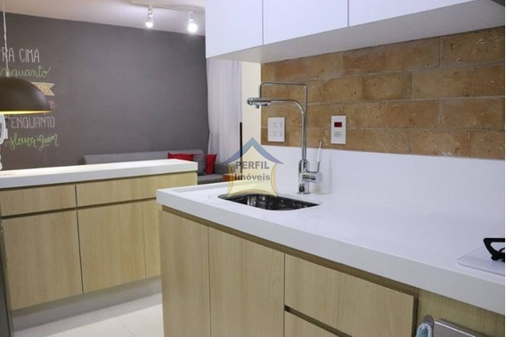 Apartamento Em Condomínio Padrão Para Venda No Bairro Jardim Utinga, 2 Dorm, 1 Vagas, 44 Mts, Lindo! - 3269