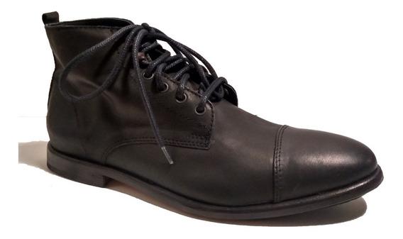 Bota Borcego Paso Cuero Zapato Caña Alta