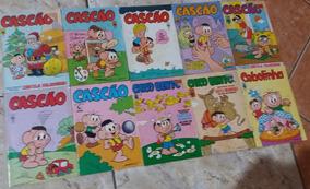 Cebolinha Cascão Chico Abril Lote 10 Gibis Diversos Coleção