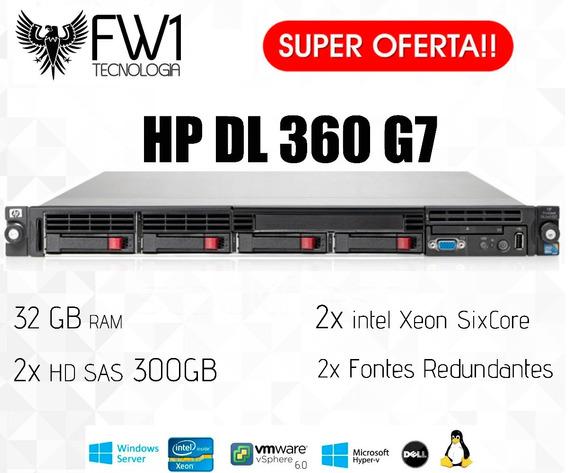 Servidor Hp Proliant Dl360 G7 32gb/ 2 Hds 300gb/ 2 Six Core