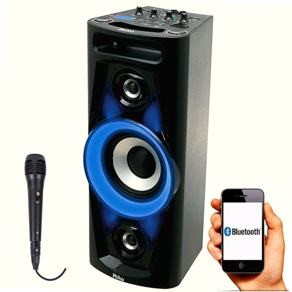 Caixa De Som Amplificada Bluetooth Mp3 Churrasco 100w Philco