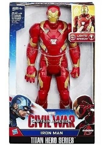 Ironman De 30 Cm Luz Y Sonido En Español Original Hasbro 20$