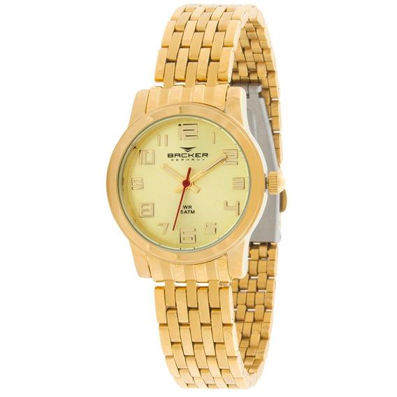Relógio Feminino Analógico Backer 3385145f Ch - Dourado Fund