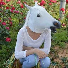 Máscara De Cavalo Látex Cosplay