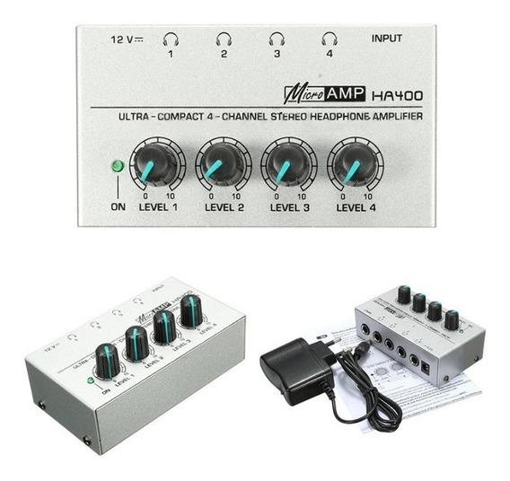 Amplificador Fone De Ouvido 4 Canais Stereo Frete Grátis