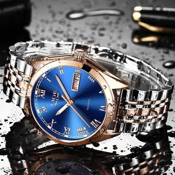 2019 Lige Novo Ouro Rosa Relógio Negócio Relógio De Quartzo