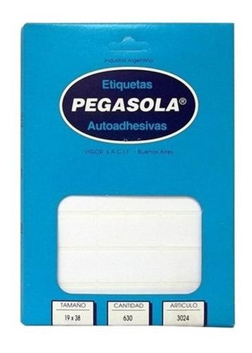 Etiquetas Pegasola Modelo 3024 (1,9 X 3,7 Cm)