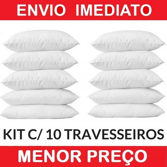 Kit Com 10 Travesseiros Manta Siliconada Promoção Revenda