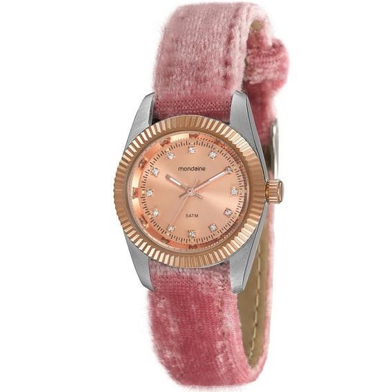 Relógio Feminino Mondaine Pulseira De Couro 99062lpmvgh9