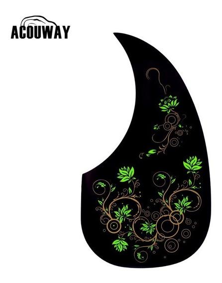 Escudo Gota Para Violão Personalizado Floral Frete Grátis