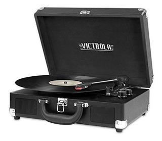 Victrola Tocadiscos Maleta Bluetooth Vintage De 3 Velocidade