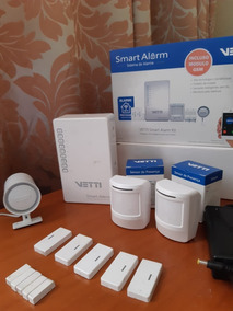 Kit Alarme Sem Fio - Smart Alarm Kit Com Gsm Vetti