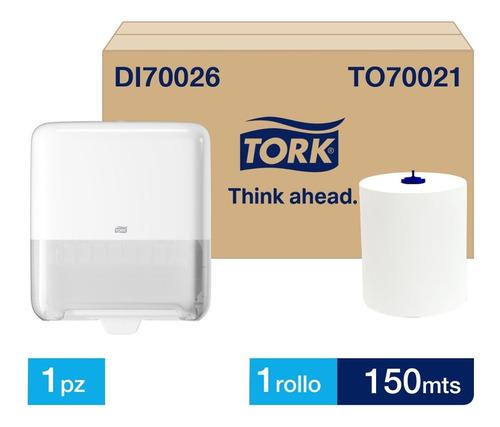Dispensador Toalla En Rollo Tork Matic® + Carga Gratis