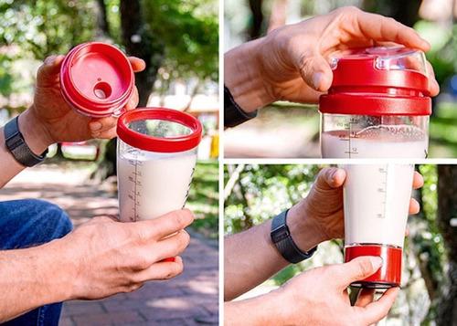 Termo Mezclador Shaker Eléctrico Proteina 450ml