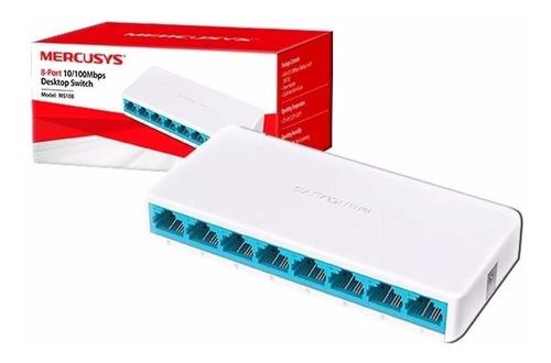 Switch De Escritorio 8 Puertos 10/100mbps Ms108 Mercusys