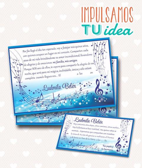 Invitación De Quince - Tarjeta De 15 Para Imprimir
