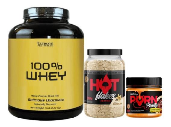 Kit 100% Whey 2,27kg + Flakes 700g + Pasta 500g - Ultimate