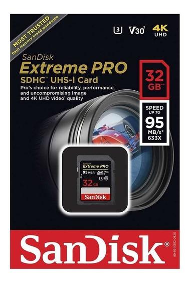 Cartão De Memória Sandisk Sd Sdhc Extreme Pro 95mb/s 32gb