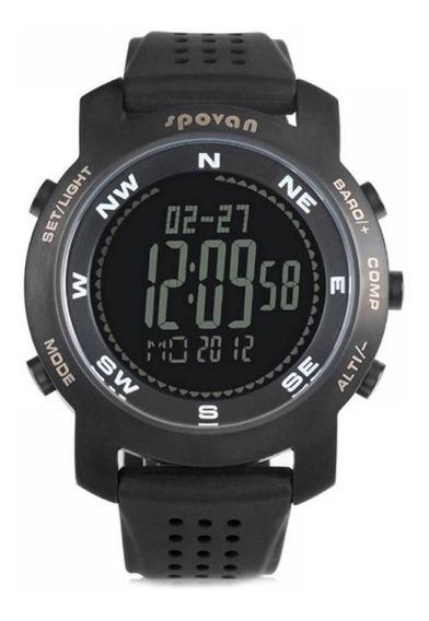Relógio Masculino Spovan Digital Bravo Preto Original