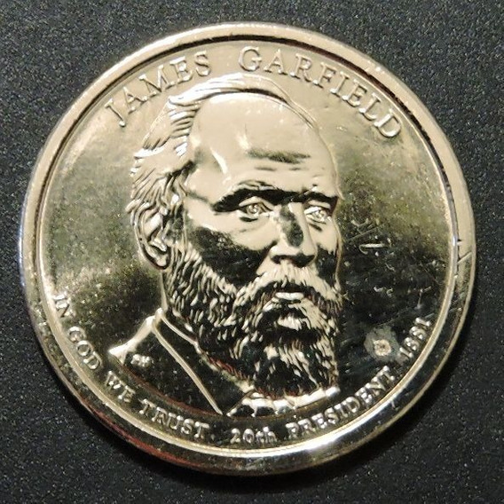 Dolar Presidentes - 20th Presidente James Garfield 1881