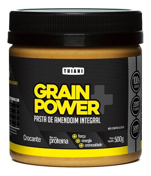 Pasta De Amendoim Grain Power Integral Crocante Thiani 500g