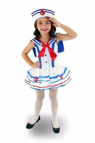 Fantasia Marinheira Luxo Infantil