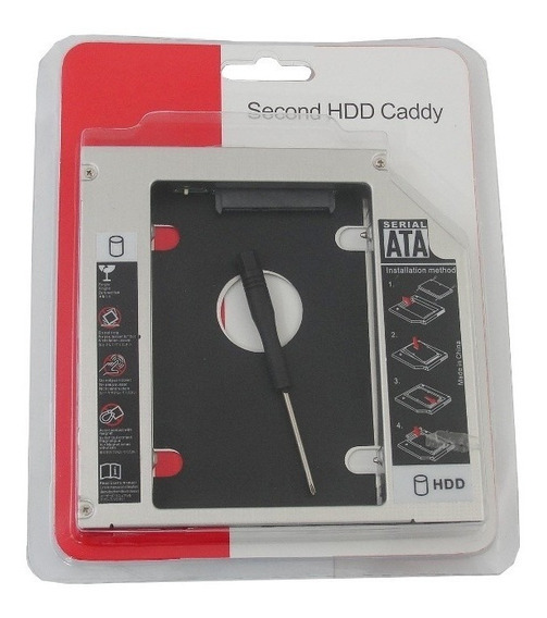 Adaptador Caddy Dvd Para Segundo Hd Ssd Notebook 12,7mm Sata