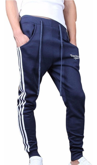 Pants Baggy Jogger Marca Top Here Con Logo Deportivos Harem