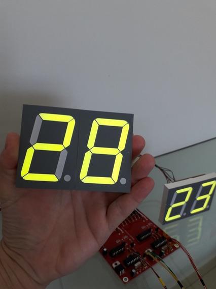Placar Eletrônico Grande 00 Até 99 Com 7 Cm De Altura