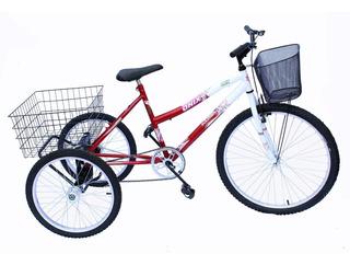 Bicicleta Triciclo Adulto Onix Cor Vermelho
