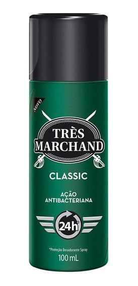 Desodorante Spray Très Marchand Masculino Classic 100ml