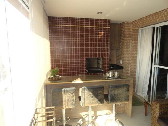 Apartamento Com 3 Dormitórios À Venda, 95 M² Por R$ 750.000 - Pompéia - Santos/sp - Ap4392
