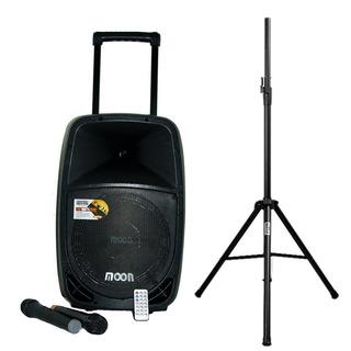 Combo Bafle Moon Batt12u Usb Bluetooth Tripode Mic Oratoria