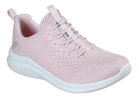 Tenis Skechers Ultra Flex 2.0 Rosa Mujer 13350/ltpk