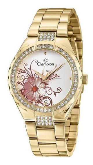 Relógio Champion Passion Feminino Flor Cn29543h