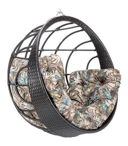 Cadeira Balanço Suspensa Em Fibra Sintética E Est. Alumínio