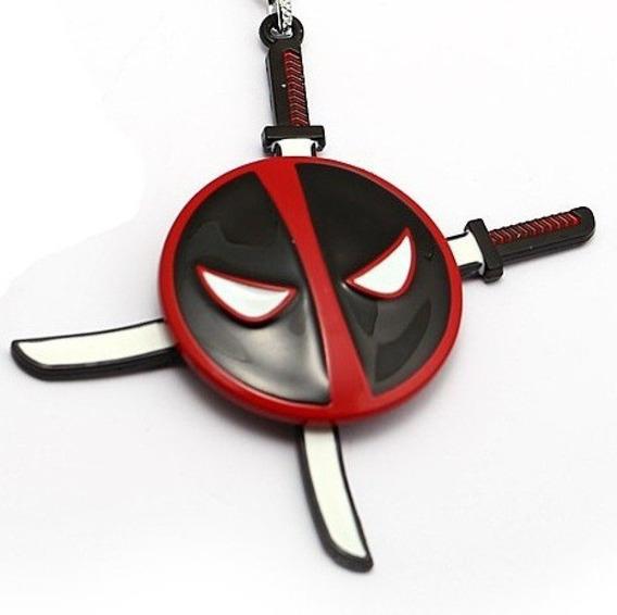 Deadpool Llavero Giratorio X-men Marvel Metálico Con Espadas