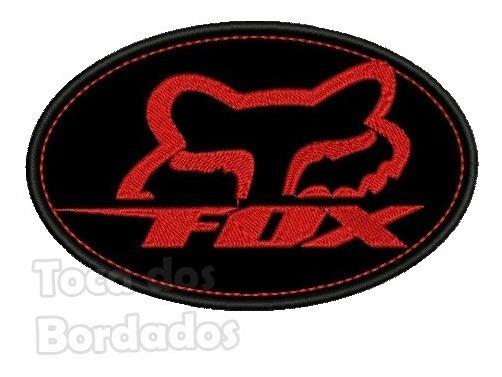 Patch Bordado Termoc Logo Fox Vm Moto Trilha 7,5x11cm Car97