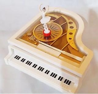 Alhajero Musical Diseño Piano De Cola Bailarina