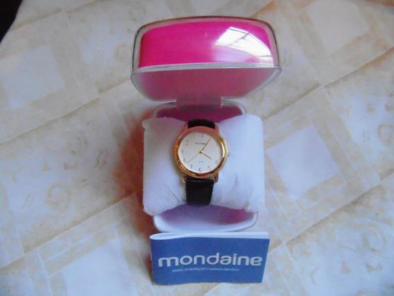 Relógio Mondaine Analógico 3atm Pulseira De Couro