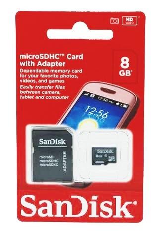 Cartão Sd 8 Gb Original Sandisk
