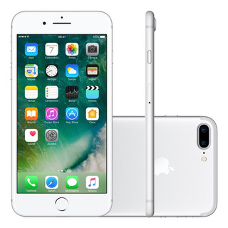 iPhone 7 Plus Apple 4g Ios10 32gb Câmera 12mp Tela 5.5 Prata